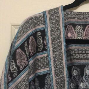 EUC Kimono style open wrap - Loft sz M/L